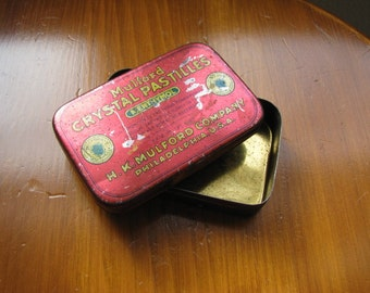Vintage Tin Container With Lid