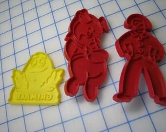 Vintage Plastic Cookie Cutter - Pick One - Pig, Pilgrim or Grimace