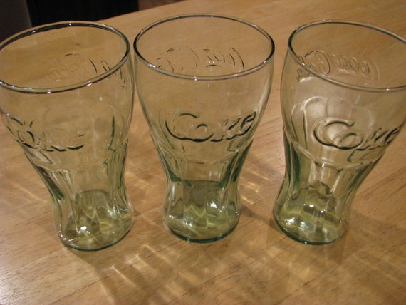 Vintage Coke Glasses - Set Of Three