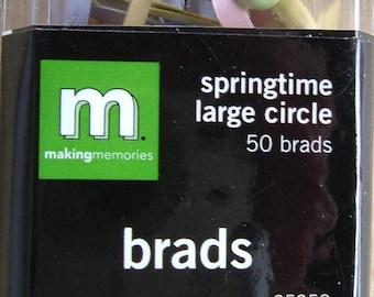 Large Springtime Round Brads by Making Memories