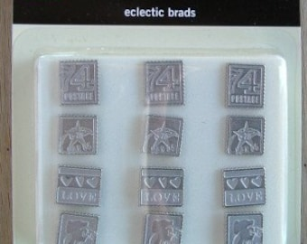 Eclectic Stamps Decorative Brads by Making Memories