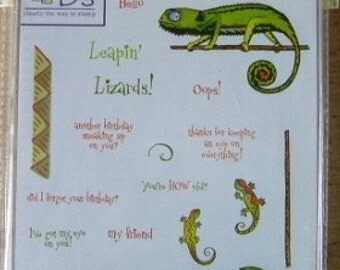 See D's Leapin' Lizards Stamp Set