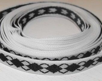 Black and White Diamonds Ribbon 3 Yards