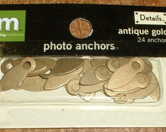Making Memories Antique Gold Photo Anchors