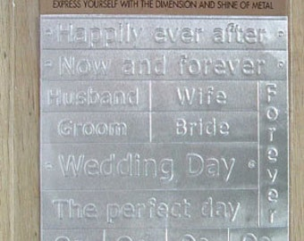 AMM Expressions Metal Sayings Wedding Day