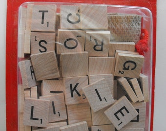 Scrabble Tiles with Pouch