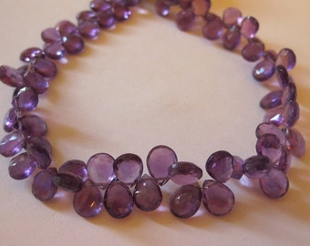 Amethyst Faceted Tear Drop Briolettes-Graduated