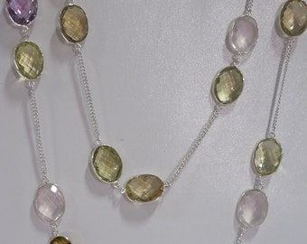 Sterling Silver & Gemstone Necklace