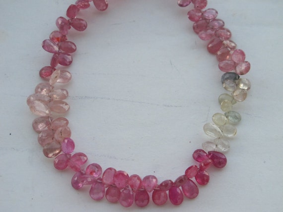 Pink Sapphire Faceted Tear Drops-6x4mm