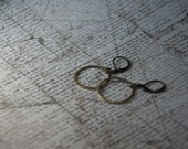 Hammered Brass Hoops