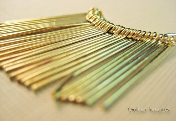 Gold plated eye pins, 30 pieces, 25mm, 20ga (MF007)