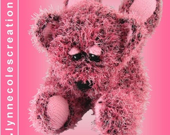 Rosie Bear Knitting Pattern - PDF format by Lynne Coles Creations