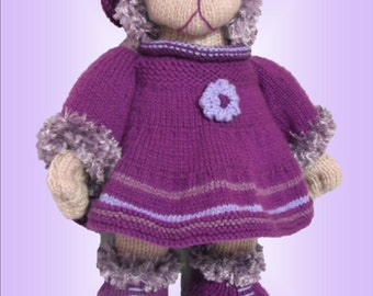Angel Bear a unique knitting pattern by by LynneColesCreations