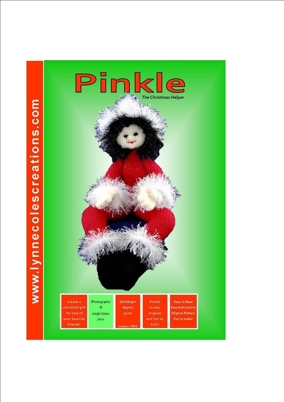 Pinkle Lotz - a unique Toy Knitting Pattern -  PDF format