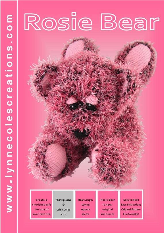 Rosie Bear Knitting Pattern - PDF format by Lynne Coles Creations