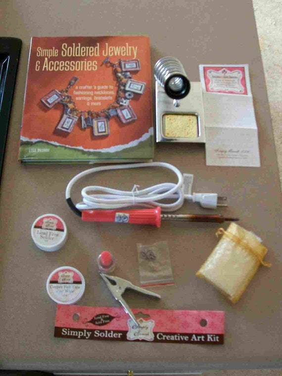 Used SIMPLY SWANK Soldering Kit and Book