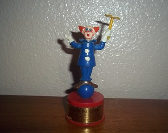 Vintage 1960s Bozo Push Puppet in very, very good condition REDUCED PRICE!