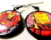 Iron Man Dangle Earrings
