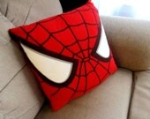 Spider-Man Recycled T-Shirt Pillow