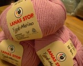 Lanas Stop Brand Yarn-York Merino Style.ECHINACEA . 5 Balls per Order