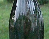 c1890 Olive Green Blown Glass Beer Bottle with an applied lip
