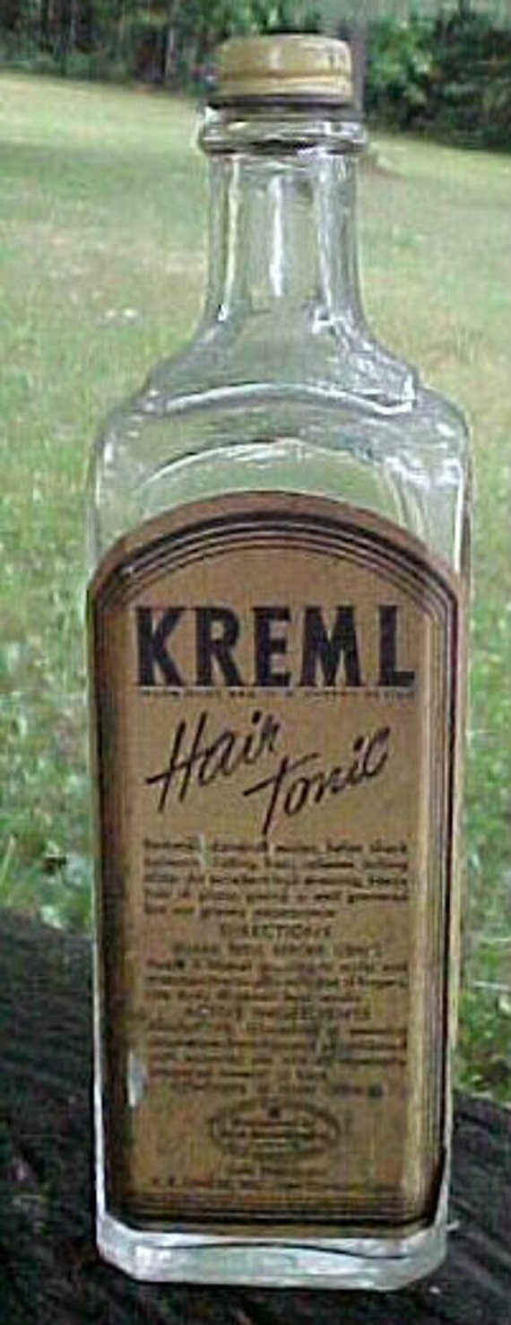 C1930s Kreml Hair Tonic Sole Distributor R B By