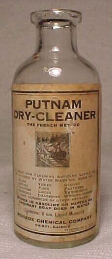 C1920s Putnam Dry Cleaner Monroe Chemical Company Quincy