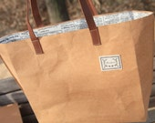 The City, Kraft and Linen Tote Bag