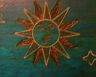 Take 20% off Sale POLISH Wood & Metal Engraved Jewelry Box