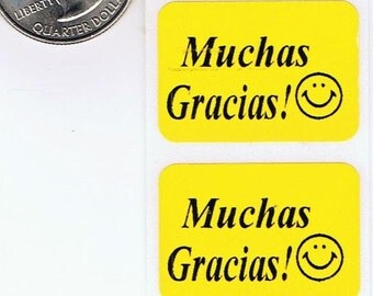 Muchas Gracias Thank you Stickers Labels Quantity (25)