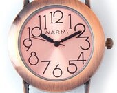 Round Copper Solid Bar Watch Face