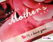 Happy Mother's Day PS. I love you - 5x7 card