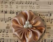 SUPER SALE - Jane - Cream Silk Fabric Flower Clip or Brooch or Headband
