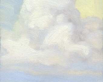 """Heavenly cloud over Montana prairie is the subject of oil painting titled """"Cloud Diety"""""""