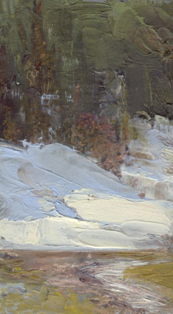 Spring thaw in Oregon's Strawberry Mountains Wilderness is subject of small oil painting