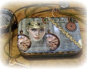Steam Punk Egyptian Princess Altered Tin No 80