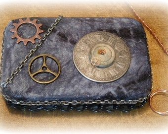 Steam Punk,  Altered Altoid Tin Box, Steampunk Altered Tin Box, Steam Punk Credit Card Case, Stash Box, Coin purse,  Made To Order