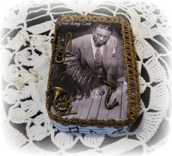 Nat King Cole Musical Jazz Legend, Treasure, Keepsake Tin Box