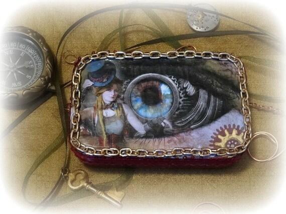Steam Punk Eyeball Altered Tin No 81
