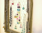 Wooden Rustic Jewelry Display Frame
