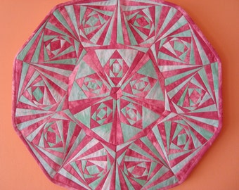 Mandala, A-1, star, paper pieced quilt pattern, PDF