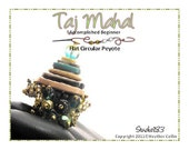 Beading Pattern, Instructions, Tutorial, Peyote Stitch Funky Button Tower Ring Instant Download TAJ MAHAL