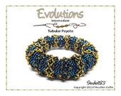 Beading Pattern Tubular Peyote Stitch Large Ethnic Bangle Tutorial EVOLUTIONS