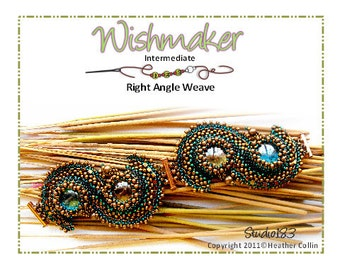 Beading Pattern Right Angle Weave Focal Cuff WISHMAKER