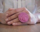 Pinky Bird Ring. Handmade with Clay, One of a Kind