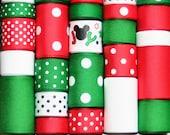 Grosgrain Ribbon Lot MIx 25YDS Christmas Mickey Mouse Inspired JOY Reindeer Snowman Santa