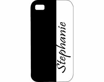 HTC One X cover Personalized Custom Black White Hard Plastic Case