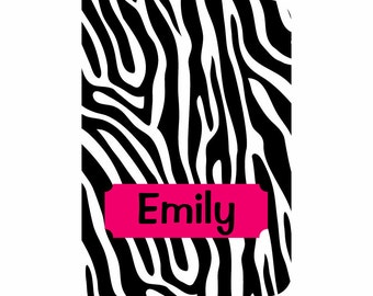 iPad 2, 3, 4, 5 Air, Mini, or NEW Mini Leather case cover Personalized Custom Zebra Black White