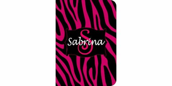 SALE 30% OFF! iPad 2, 3, or 4 Hard Snap on case cover Personalized Custom Zebra Black Fuschia