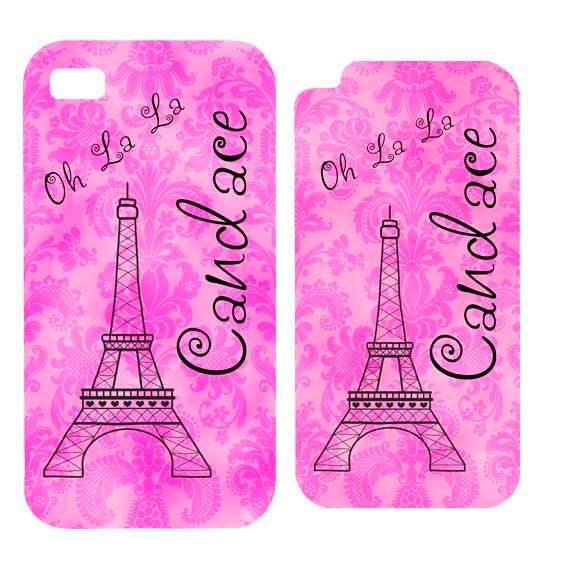 iPhone 4 4s 5 5s 5c 6 6 plus iPod Touch 4 5 Personalized Damask Paris Eiffel Tower HaRD, RuBBer or BuMPeR case